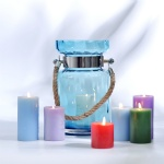 spray colored candle holder